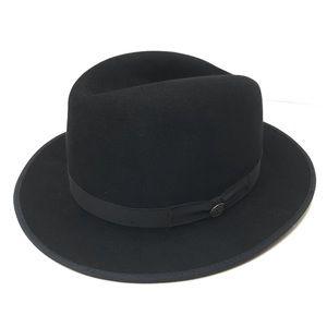 Stetson Runabout Packable Fedora Hat Black Medium